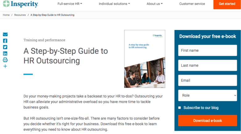 Step-by-Step Guide to HR Outsourcing from Insperity