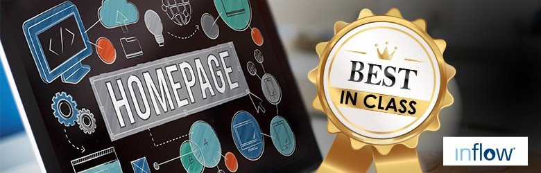Best in class ribbon for homepage design