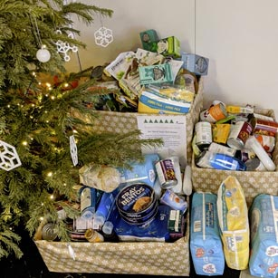 Christmas food donations