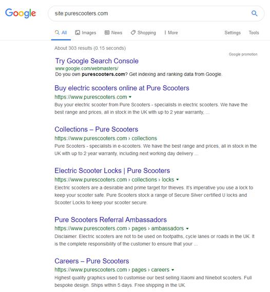google site screengrab