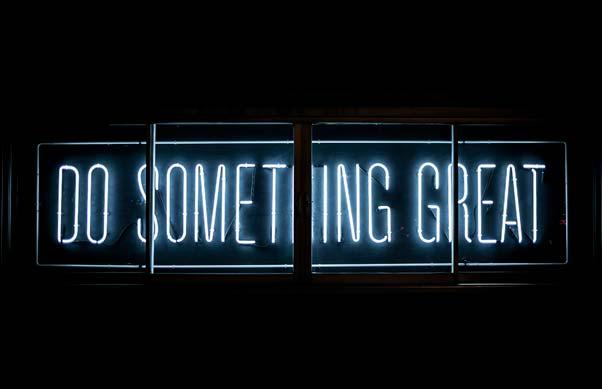 Neon sign - saying - do something great