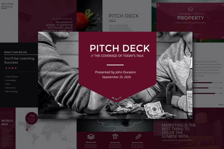 Example of Business Pitch Deck Keynote