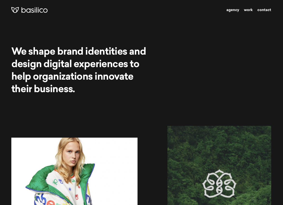 dark website designs - Basilico