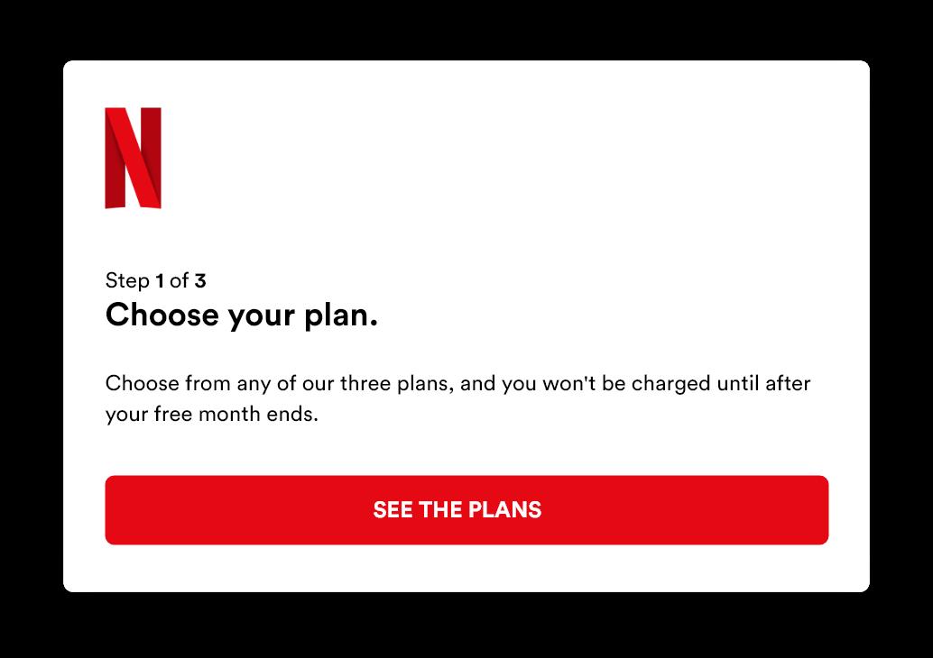 Netflix signup