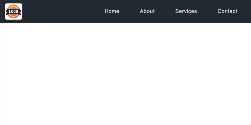 Larger Screens - CSS Responsive Dropdown Navigation