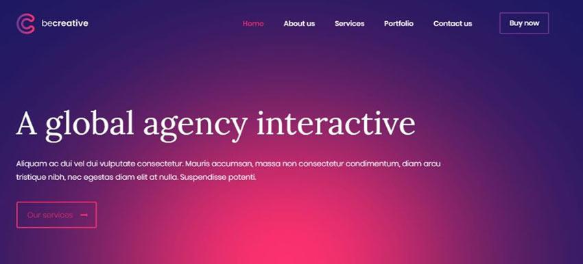 BeCreative WordPress Theme