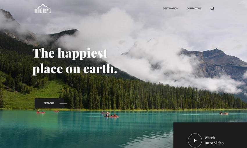 Example of Marvel Travels - Startup Travel Agency
