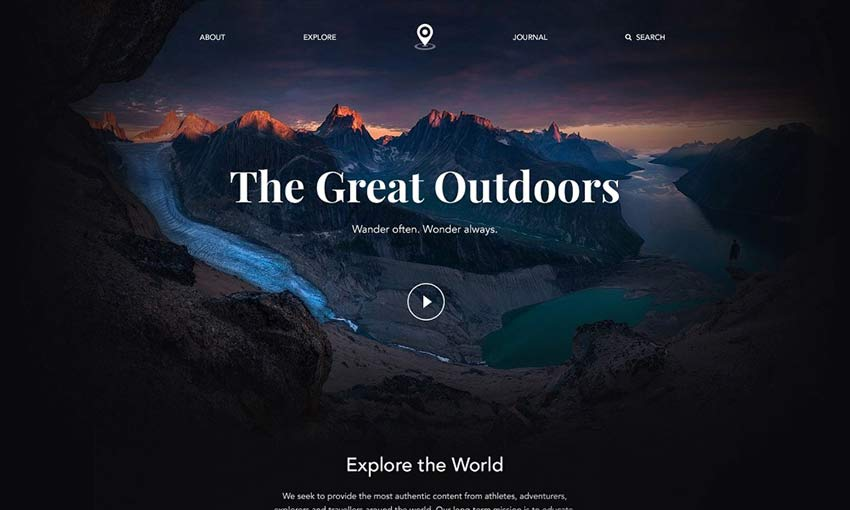 Example of The Great Outdoors