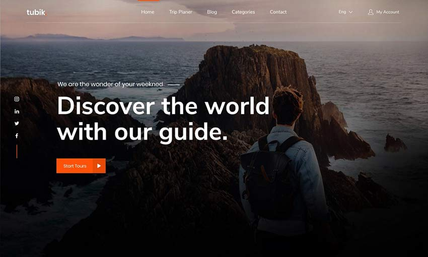 Example of Travel Landing Page