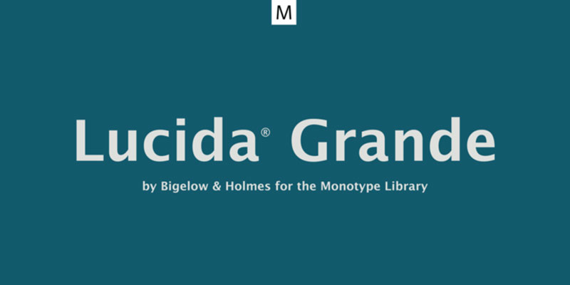 Lucida-Grande What font does Facebook use in its app and website?