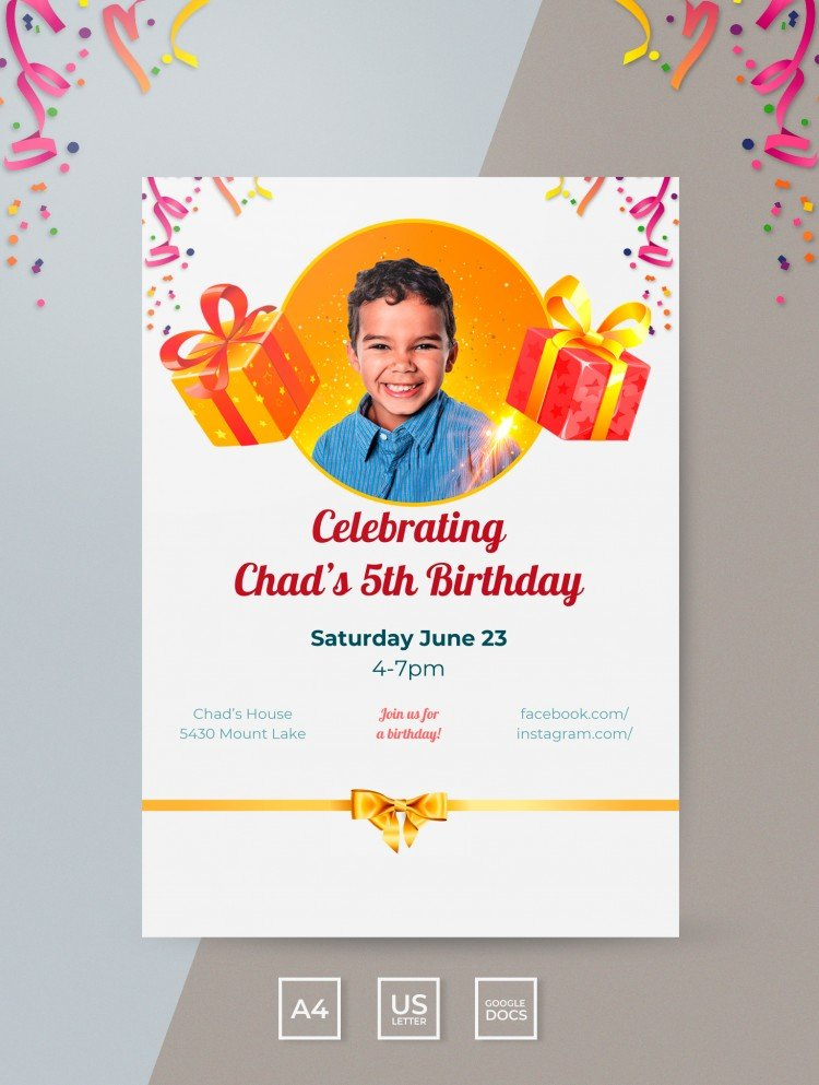 3 25+ Free Invitation Templates in Google Docs and Word