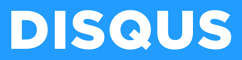 Disqus covers its text logo and social icons