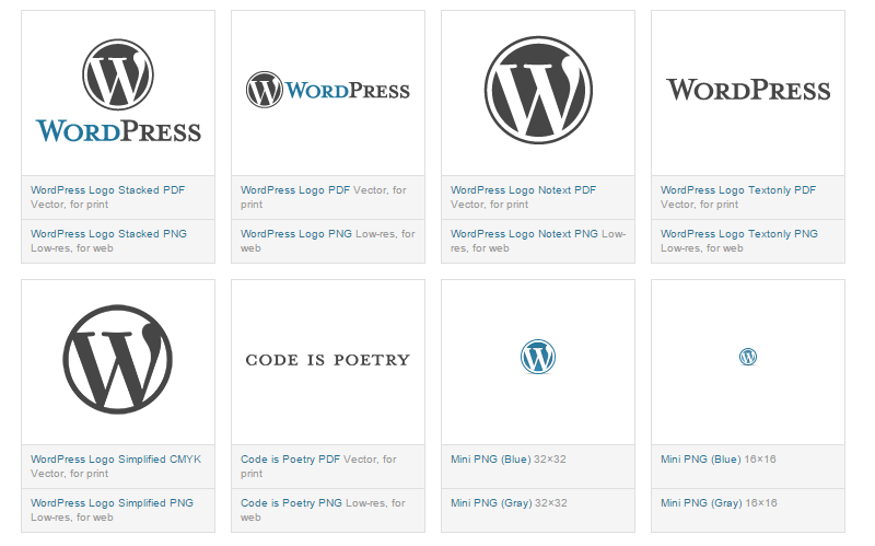 Integrate the WordPress logo into your project properly through its guideline
