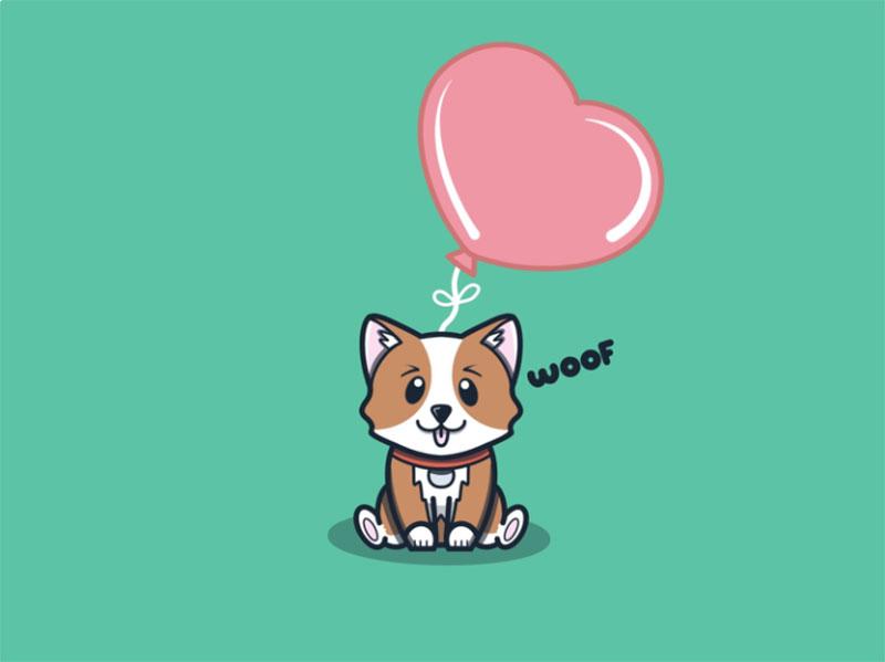 Corgi-Illustration Awesome dog illustration images to inspire you