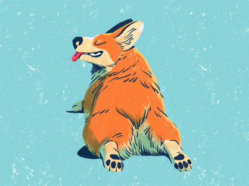 Corgi-Butts Awesome dog illustration images to inspire you