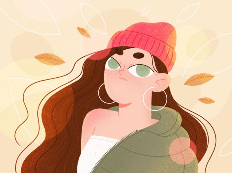 Autumn-Outfit Beautiful autumn illustration examples for the season