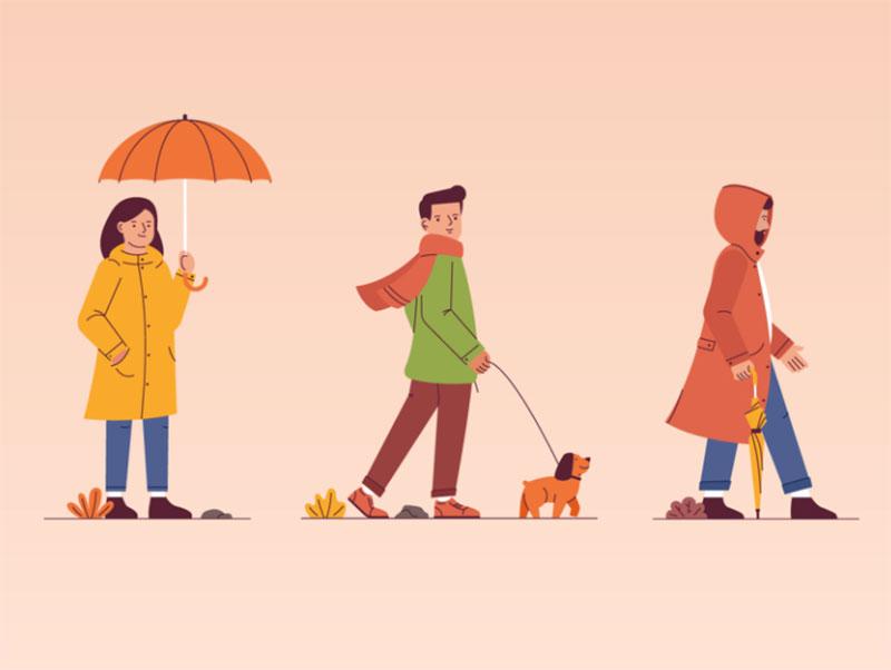 Autumn Beautiful autumn illustration examples for the season