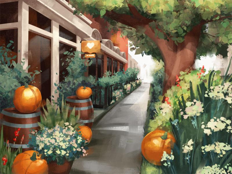 Cozy-October-Illustration Beautiful autumn illustration examples for the season