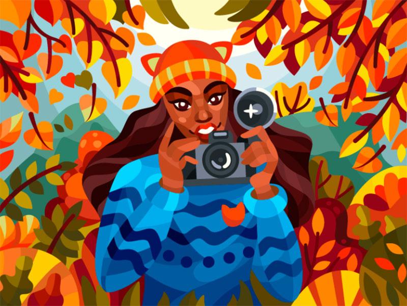 Autumn-photographer Beautiful autumn illustration examples for the season