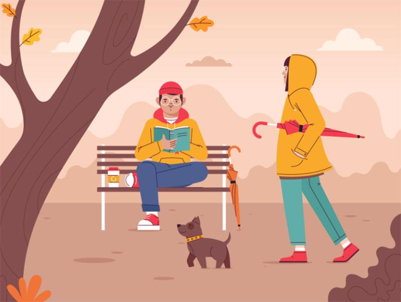 Autumn2 Beautiful autumn illustration examples for the season