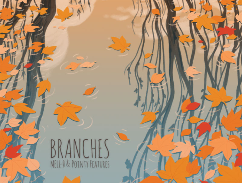 Branches Beautiful autumn illustration examples for the season