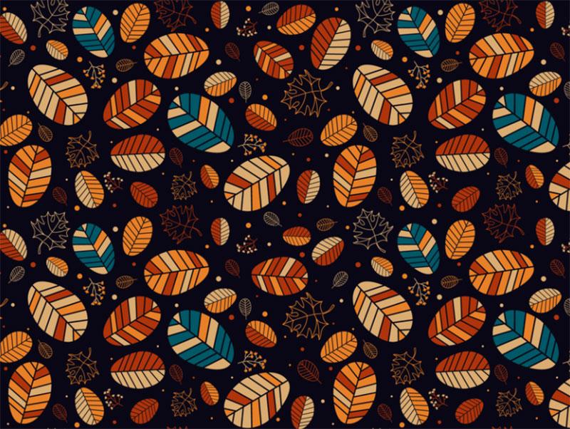Autumn-Leaves-Pattern Beautiful autumn illustration examples for the season