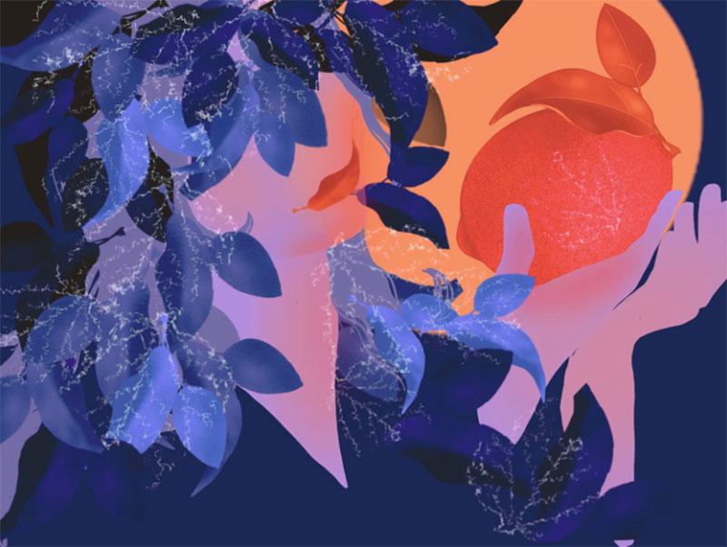 Mrs-Autumn Beautiful autumn illustration examples for the season