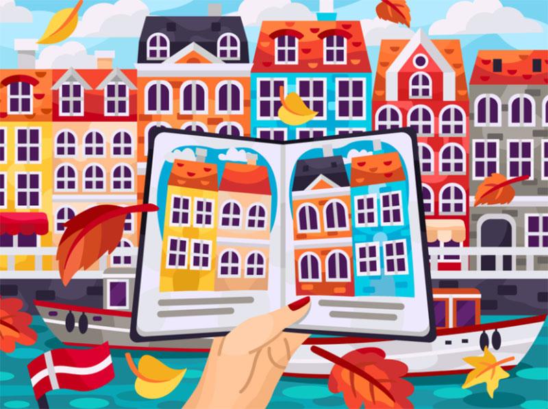 Autumn-Copenhagen Beautiful autumn illustration examples for the season