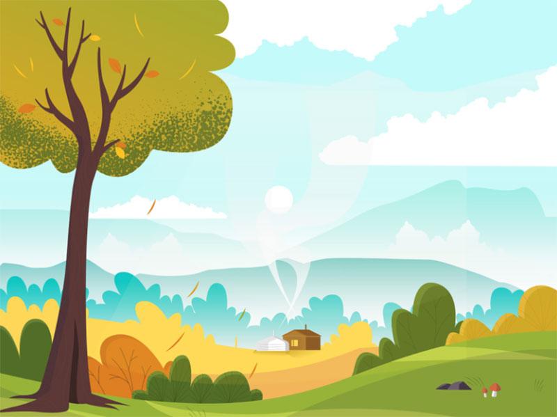 Autumn-Illustration Beautiful autumn illustration examples for the season