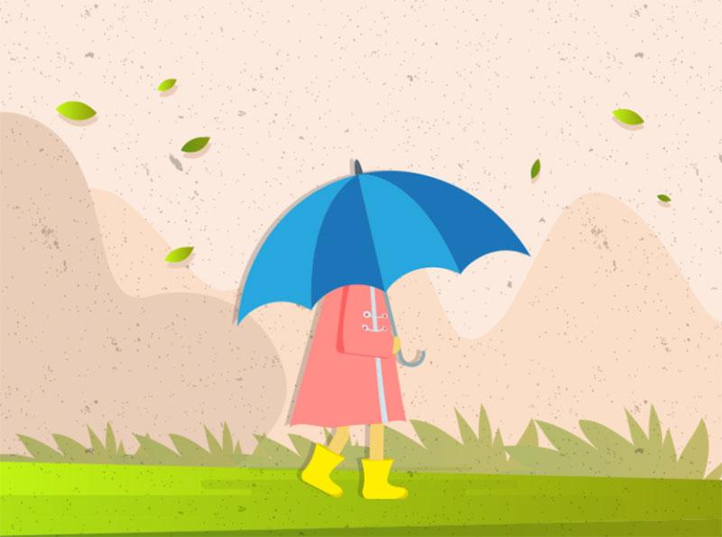Autumn-winds-vector-illustration Beautiful autumn illustration examples for the season