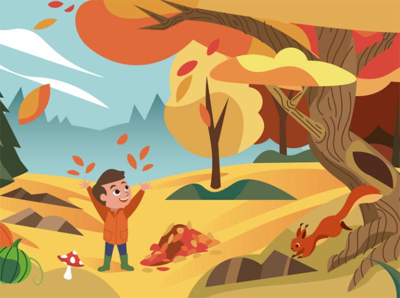 Autumn-is-here Beautiful autumn illustration examples for the season