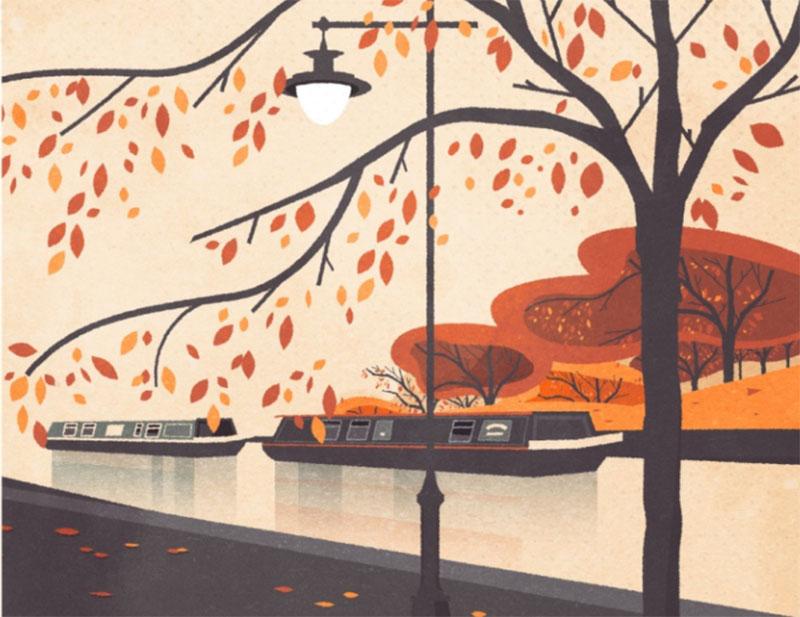 Autumn-Colours Beautiful autumn illustration examples for the season