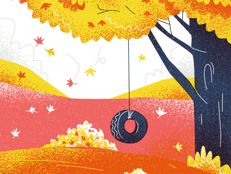 99-Things-I-Want-to-Do Beautiful autumn illustration examples for the season