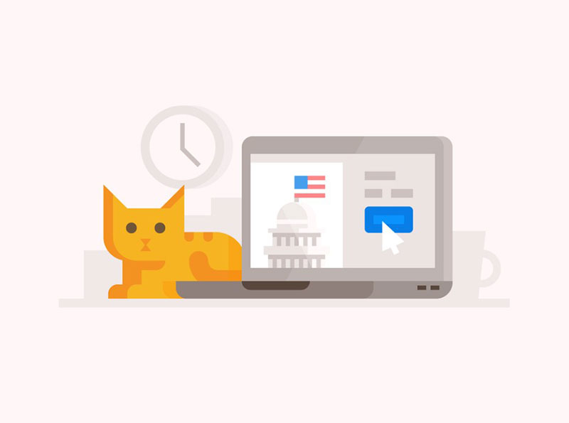Credit-Karma-Filing-Taxes-on-Time Beautiful cat illustration examples to check out