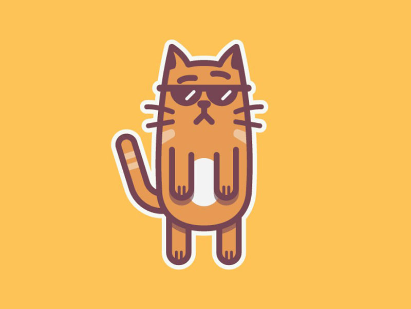 Charming Beautiful cat illustration examples to check out