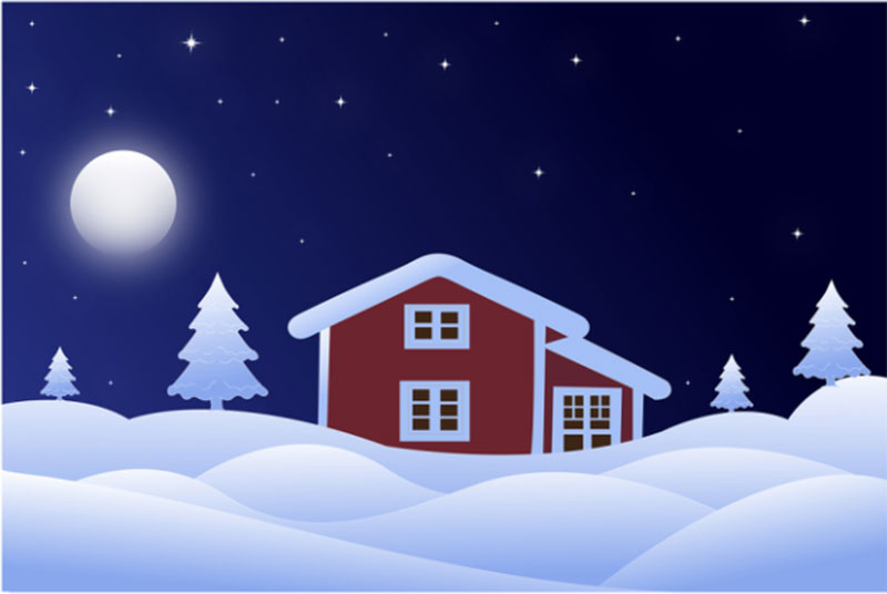 Winter-House-Graphic-Template Beautifully designed winter illustration examples for you