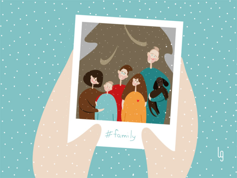 Winter-family-portrait Beautifully designed winter illustration examples for you