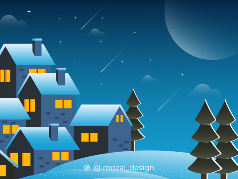WINTER2 Beautifully designed winter illustration examples for you