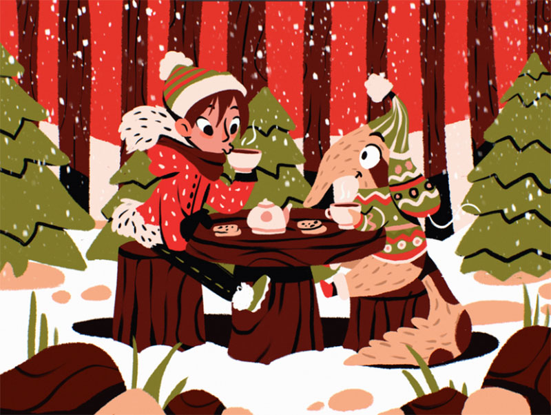 Winter-Wonderland-Illustration Beautifully designed winter illustration examples for you