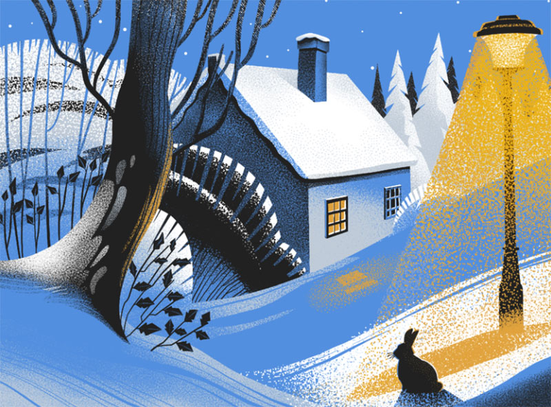 Winter-Night-Illustration Beautifully designed winter illustration examples for you