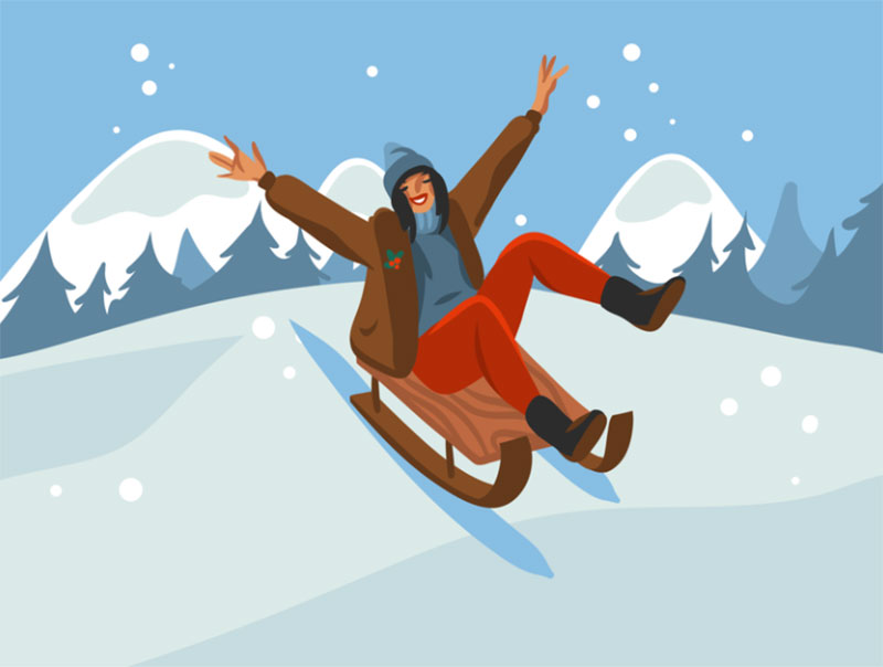 Winter-joy Beautifully designed winter illustration examples for you