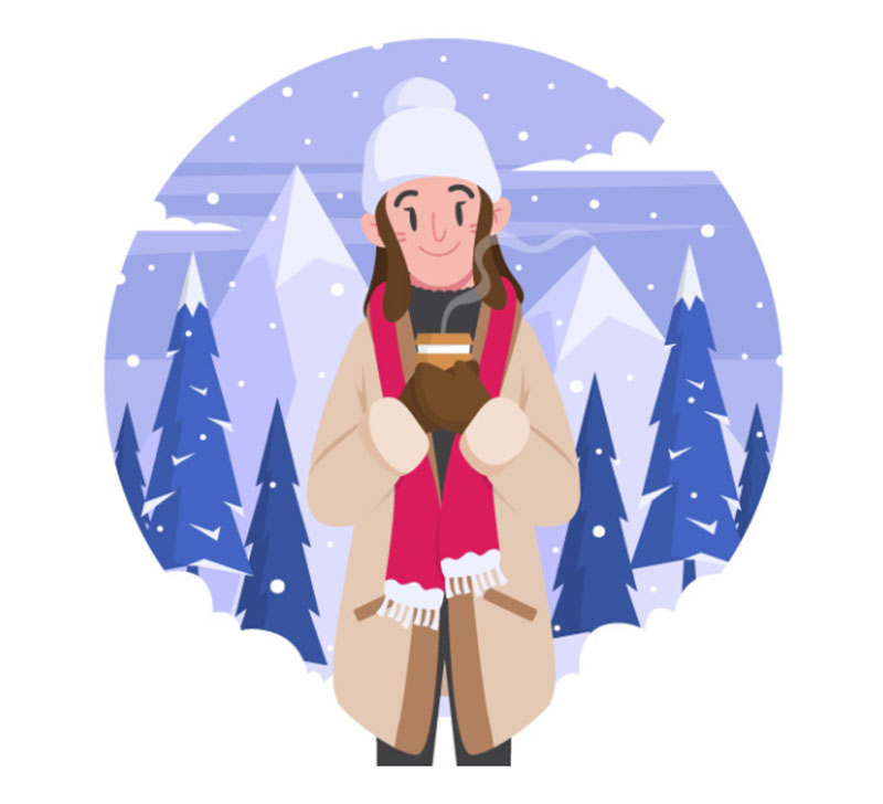 Winter-Outfits-Vector-Illustration Beautifully designed winter illustration examples for you