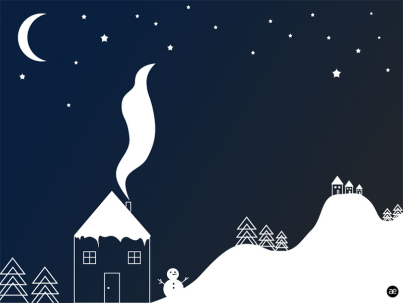 Illustration-Winter-night Beautifully designed winter illustration examples for you