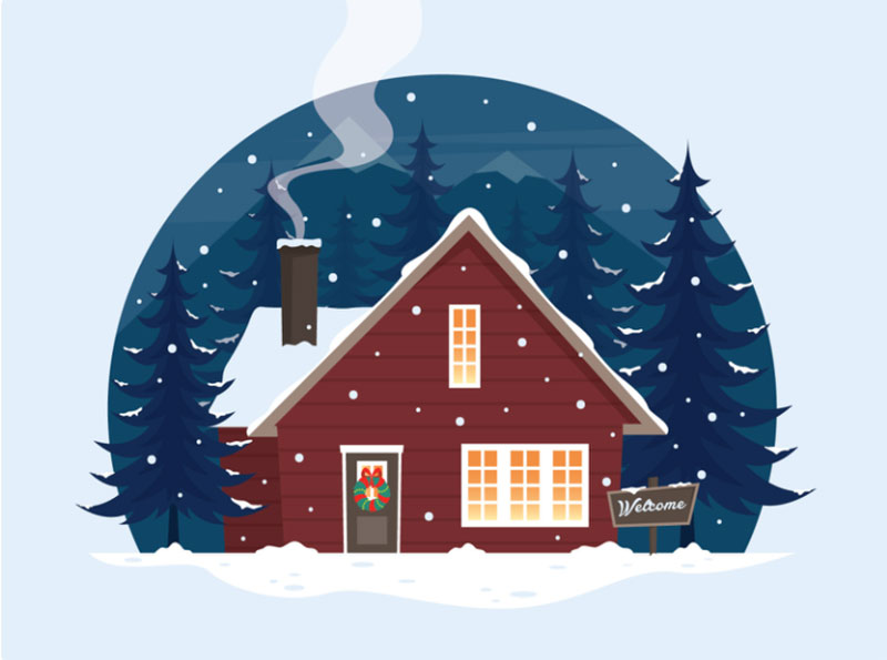 Welcome-Winter-Illustration Beautifully designed winter illustration examples for you