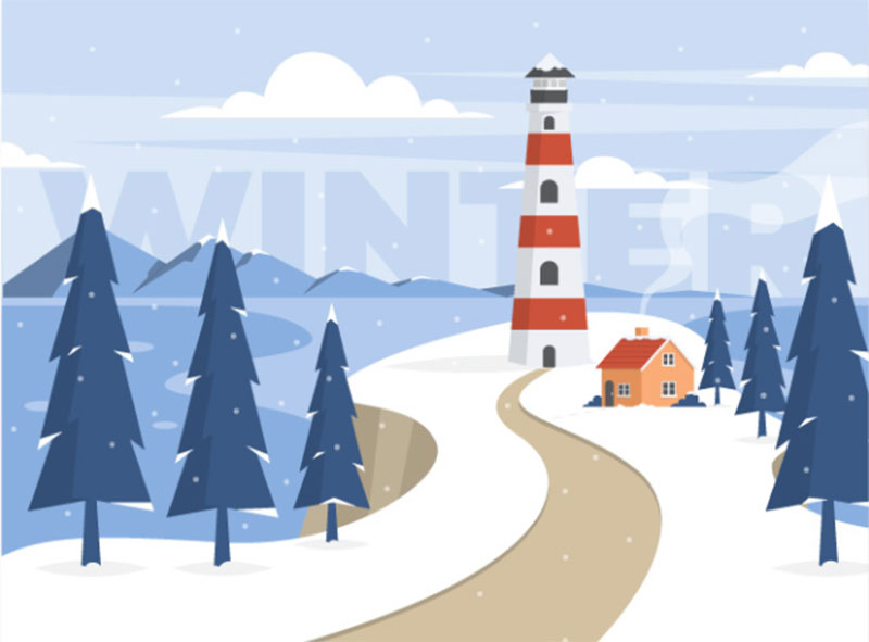 Hello-Winter Beautifully designed winter illustration examples for you