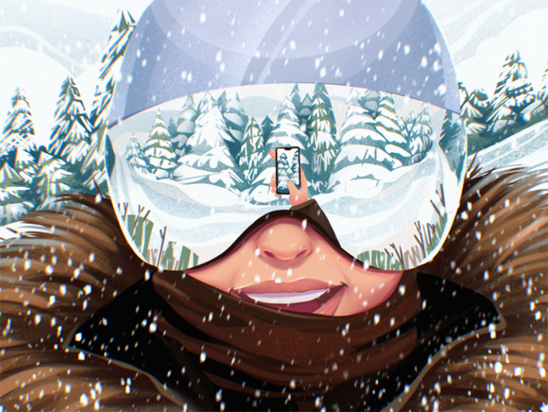 Active-Winter-Illustration Beautifully designed winter illustration examples for you