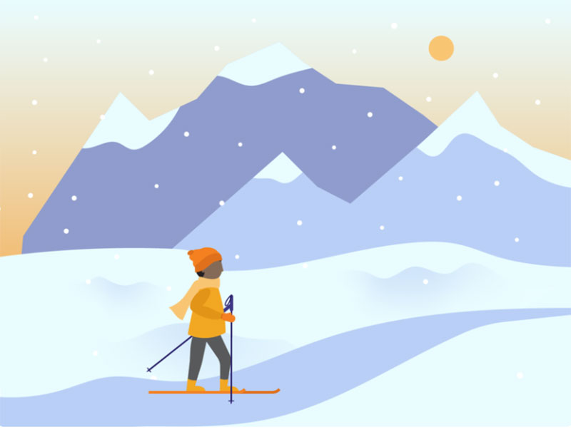 Scenic-Ski Beautifully designed winter illustration examples for you