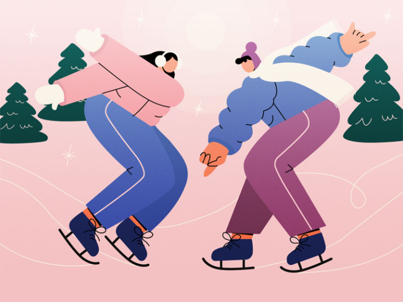 Let_s-dance-together Beautifully designed winter illustration examples for you