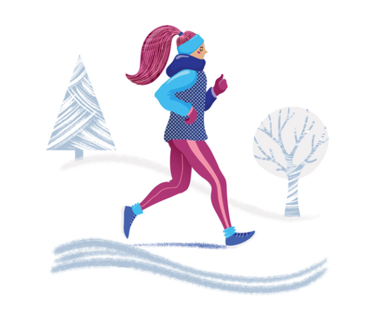 Run-the-Winter Beautifully designed winter illustration examples for you
