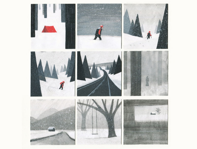A-Lonely-Winter Beautifully designed winter illustration examples for you